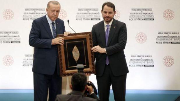 رجب طيب أردوغان وصهره آلبيرق