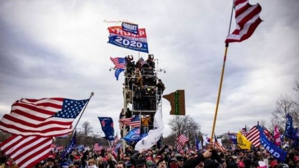 متظاهرون مؤيدون لترامب