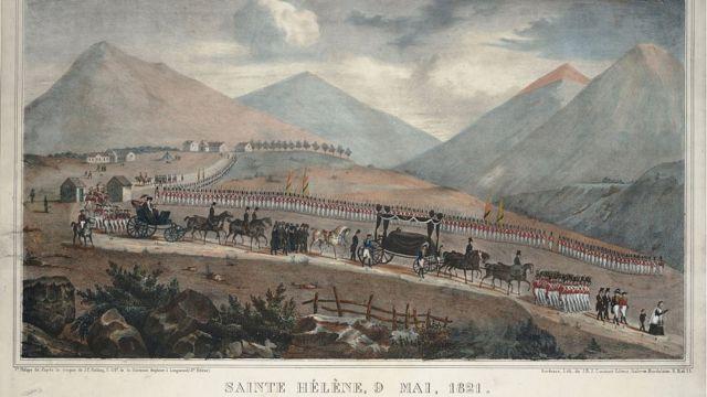 Cortejo funerario de Napoleón en Santa Elena