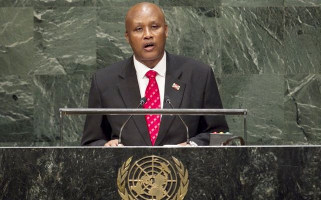 Prosper Bazombanza ubwo yari icegera c'umukuru w'igihugu mu 2014