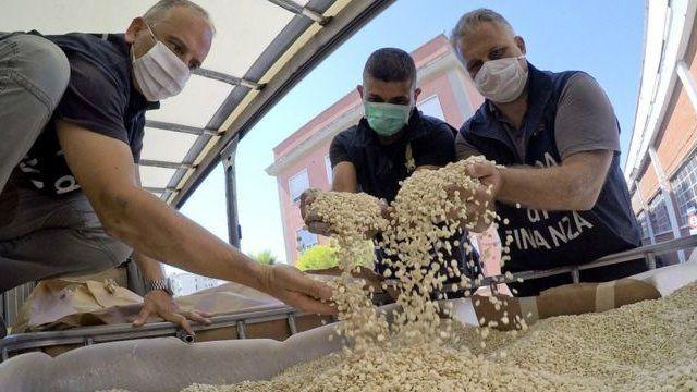 Italian police inspect vats of counterfeit Captagon pills