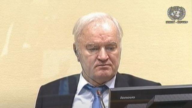 Ratko Mladic. The photo was taken last August