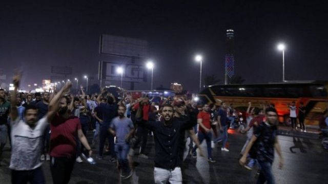 Limited night demonstrations took place for several days against President Sisi