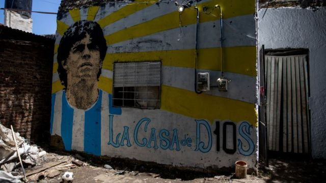 Diego Maradona's home in Villa Burrito in Buenos Aires