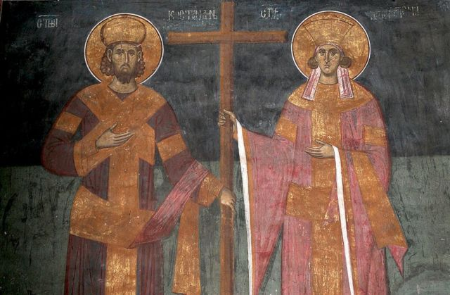 Image of Constantine and his mother, Helena