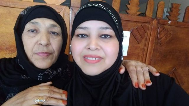 Nabila and the mother