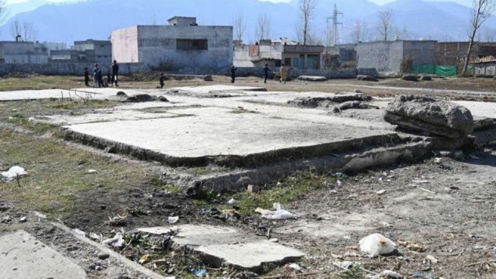Lo que queda del complejo donde fue abatido Osama bin Laden, en Abbottabad, Pakistán.