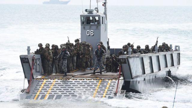 Soldados de EE.UU. en Australia.