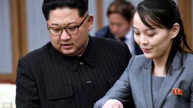 Kim Jong-un na Kim Yo-jong ni abagenzi pfa mpfe