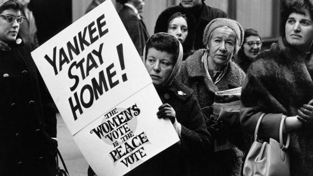 ویتنام میں جنگ کے خلاف نیویارک میں مظاہرہ