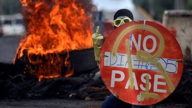 Protester in Cali