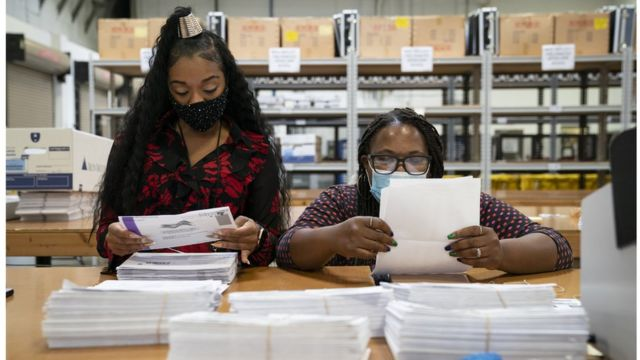 Dealing with mailed ballots in Maryland