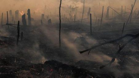 Incêndio em turfeira na Indonésia