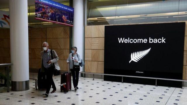 Pasajeros llegando a Australia