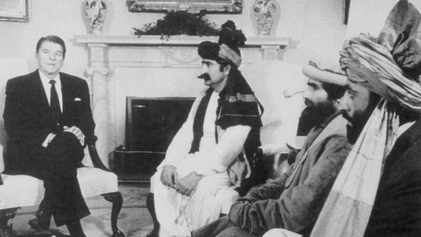 Reagan, with Mujahedin