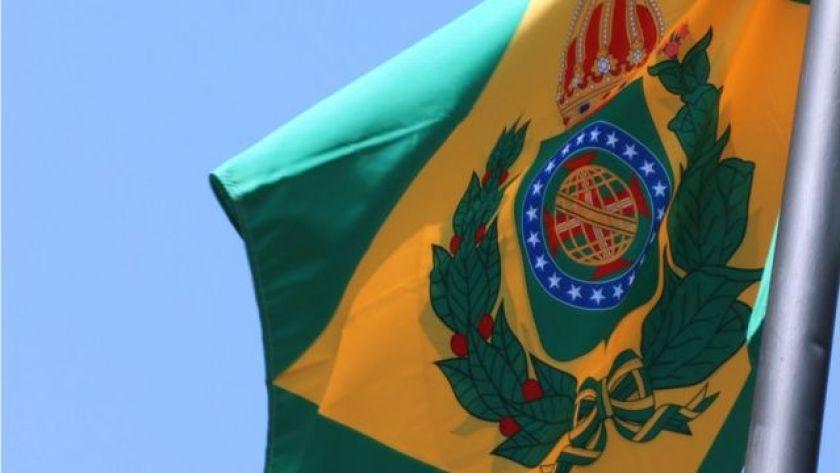 Flag of Brazil Empire hoisted at TJ-MS