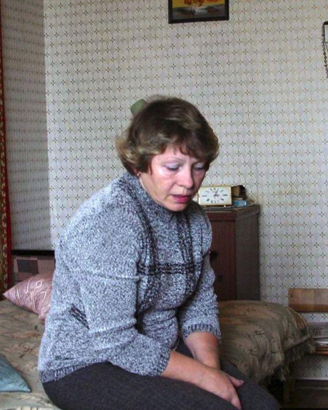 Lyudmila Zibulskaya, mae do tenente Maxim Zybylski, o único sobreviviente do K-159.