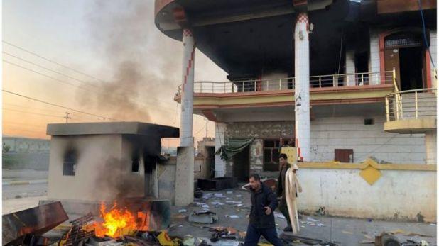 آثار دمار جراء أعمال عنف شابت المظاهرات