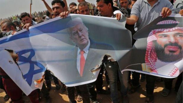 يحتج الفلسطينيون على العلاقات المتنامية بين إسرائيل ودول الخليج
