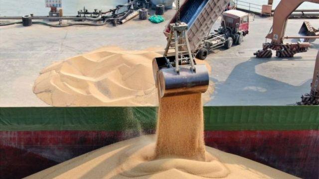 Українську сою доставили в китайський порт Наньтун, травень 2019 року. Під час торгової війни з США у Китаї скоротили імпорт американської сої і надали перевагу іншим країнам