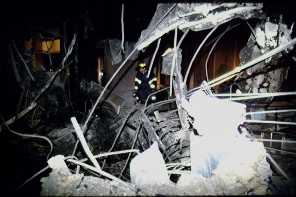 أحدث التفجير ضرراً كبيراً في مركز التجارة العالمي