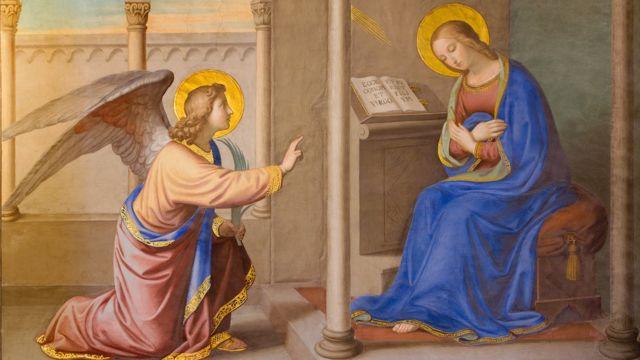 Detalle de la Anunciación de Joseph Erns Tunner 1830
