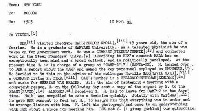 تفاصيل برقية رُفعت عنها السرية بين هول وشخص روسي عام 1944