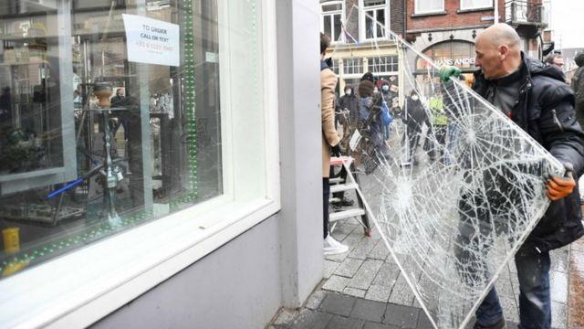 Some damage from vandalism at Den Bosch
