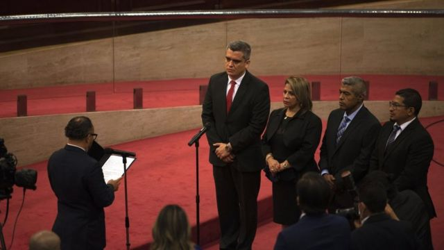New magistrates of the Constitutional Chamber of El Salvador