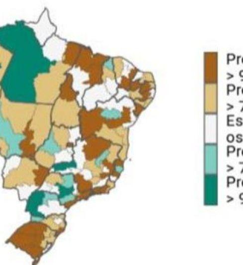 Mapa aponta as probabilidades de alta, estabilização ou queda da pandemia no Brasil