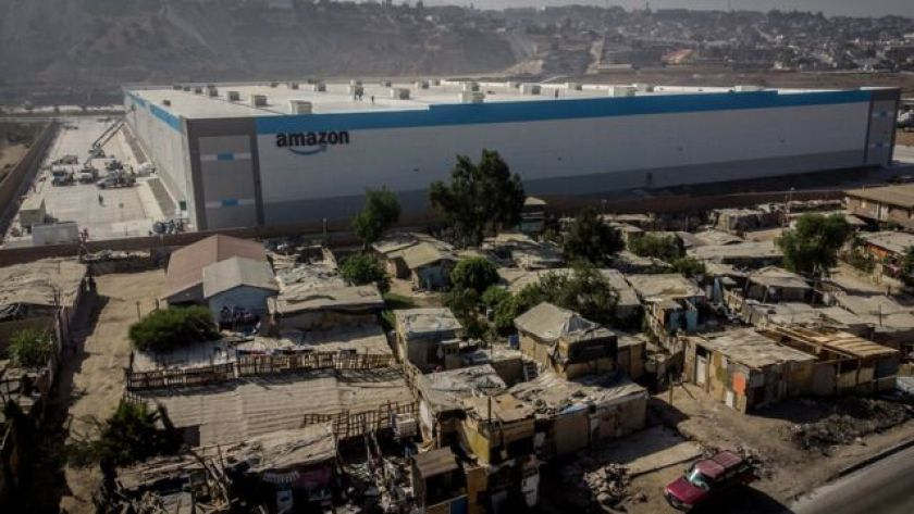 Aerial footage of the state-of-the-art warehouse taken by photographer Omar Martinez went viral