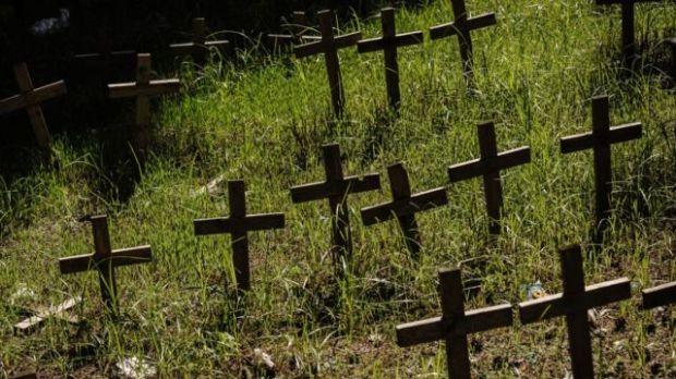 Cementerio de fetos en Nápoles, Italia