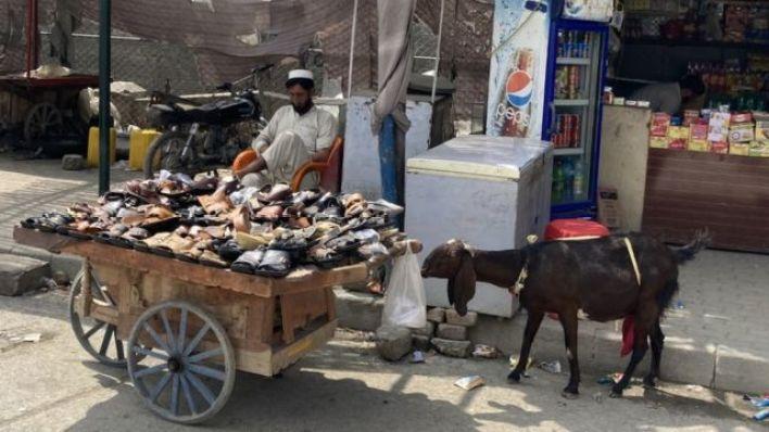 Türkham'da bir seyyar satıcı