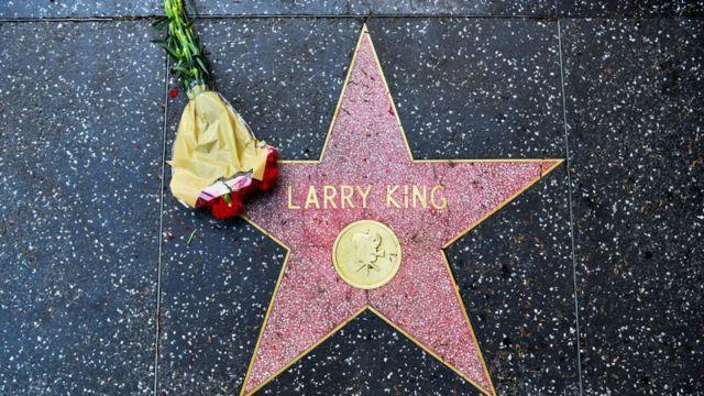 Estrella de Larry King en el Paseo de las Estrellas de Hollywood.