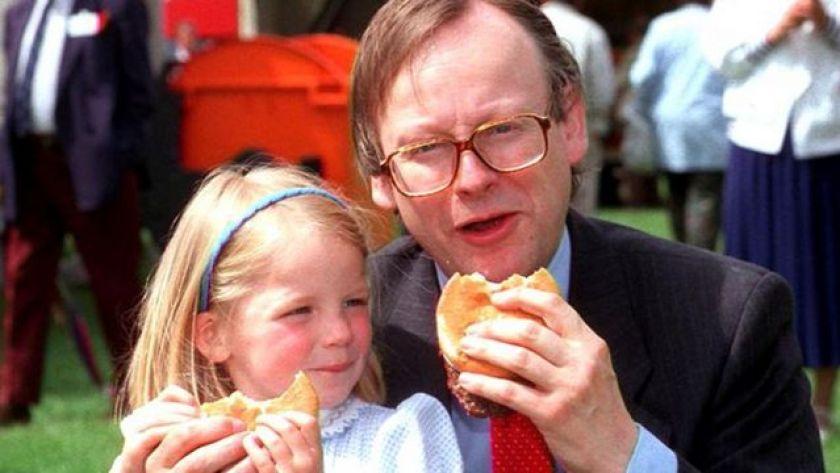 John Gummer and his daughter Cordelia in 1990