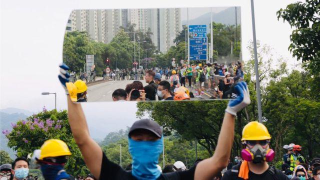 香港抗議:大埔示威留守變快閃 國泰收中國民航局警告後證實被告機員停職 - BBC News 中文