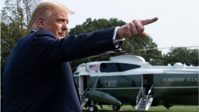 Trump et Marine One