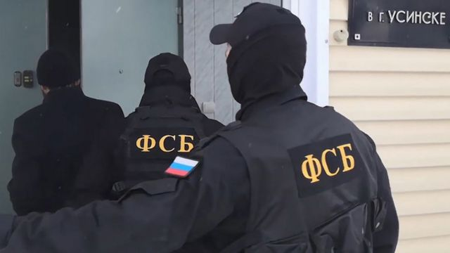 Troops from the Federal Security Agency of Russia. Archival photo