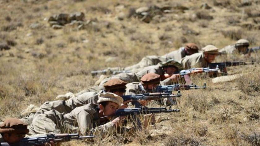 Afghan National Resistance Front fighters training in Panjshir Valley, 4 September 2021