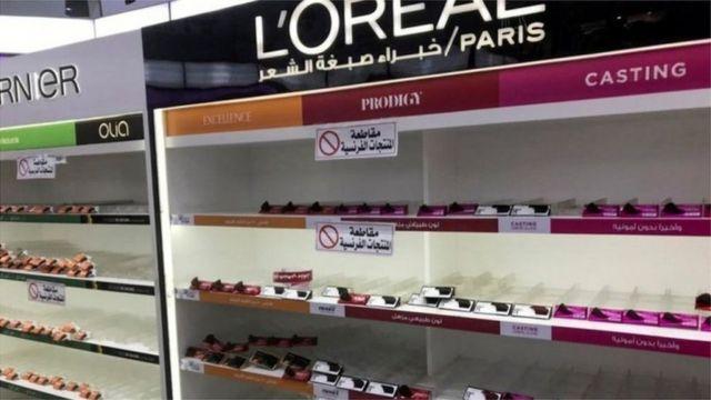 حملات مقاطعة واسعة للبضائع الفرنسية في دول عربية
