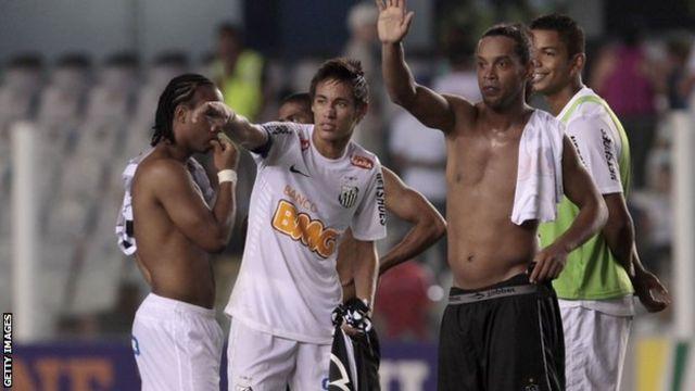 Ronaldinho and Neymar
