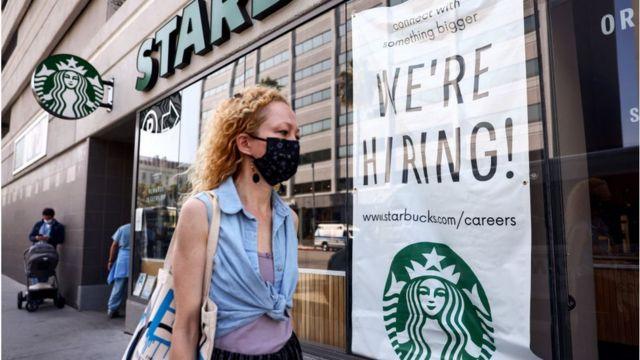 Starbucks hiring poster