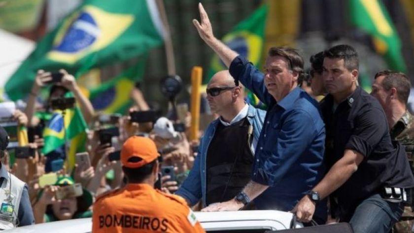 Bolsonaro at the demonstration