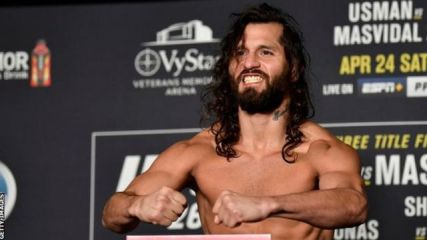 Jorge Masvidal at the weigh-in before UFC 261
