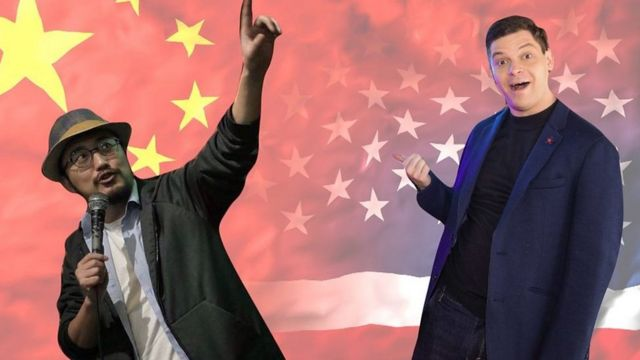 Comedian Jesse Abel from the United States and Tony Chu met in China over the Internet during the pandemic.