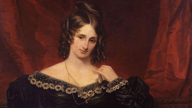 صورة ماري شيلي، التي رسمها الفنان صموئيل جون (1778-1863).