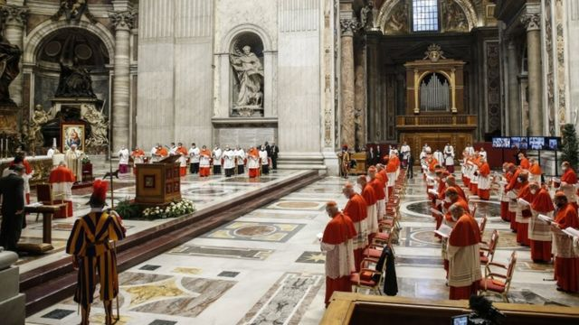 A council in the Vatican where the Pope appointed the new cardinals