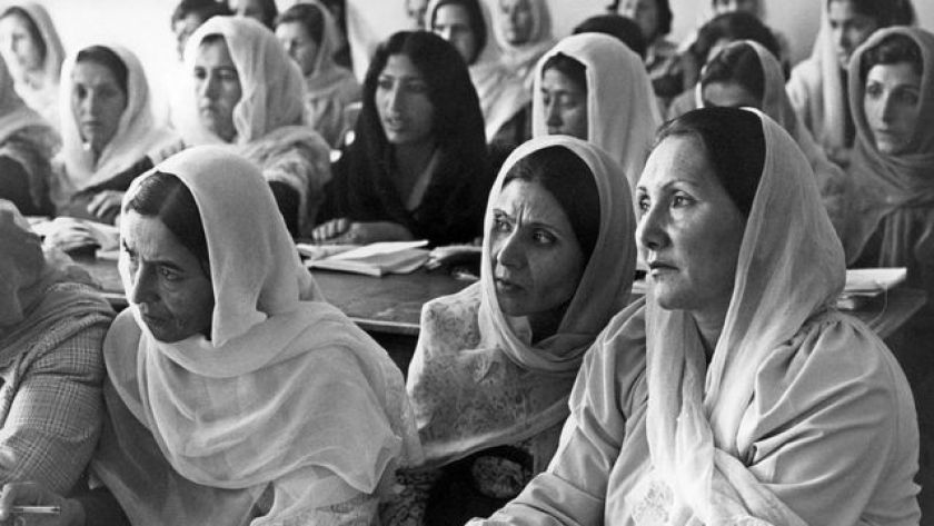 Afghan women study in Kabul during the communist government in the 1980s