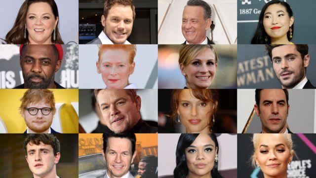 Melissa McCarthy, Chris Pratt, Tom Hanks, Awkwafina, Idris Elba, Tilda Swinton, Julia Roberts, Zac Efron, Ed Sheeran, Matt Damon, Natalie Portman, Sacha Baron Cohen, Paul Mescal, Mark Wahlberg, Tessa Thompson, Rita Ora