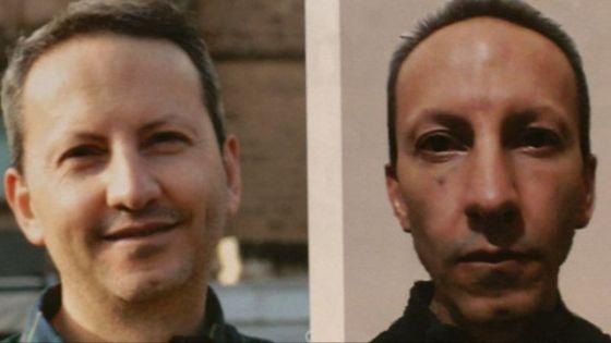Ahmadreza Djalali, antes e depois da greve de fome.